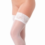 Witte hold-up panty met kantrand